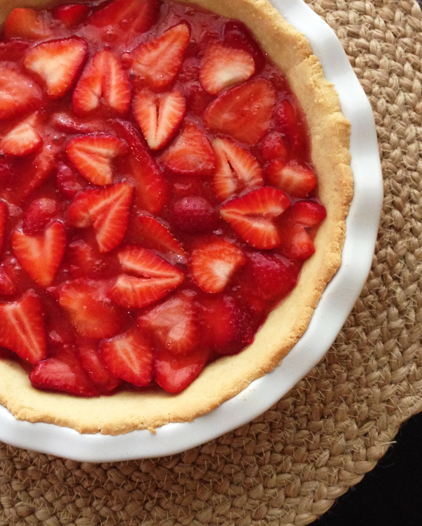 Open-faced Strawberry Pie Filing