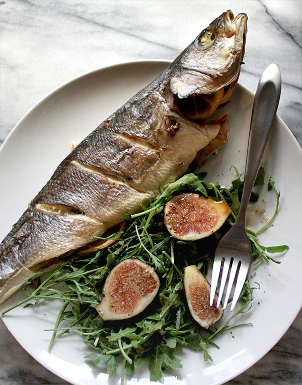 Baked whole branzino with lemon rosemary thyme for Branzino fish recipes