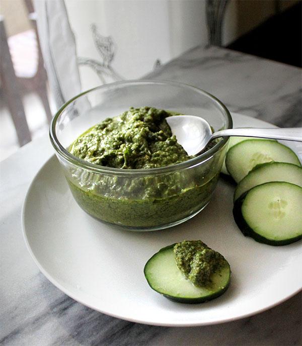 Basil and Arugula Pesto - Healing and Eating