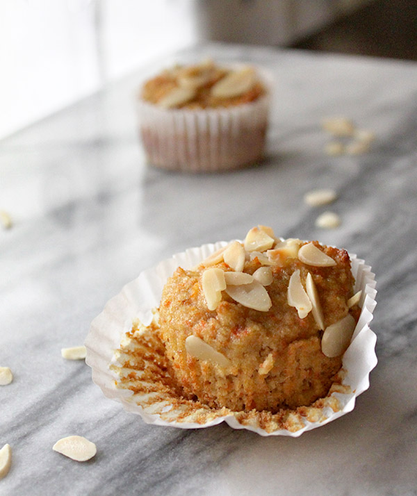 Carrot Pulp and Ginger Muffins - Healing and Eating