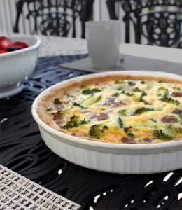Broccoli and Breakfast Sausage Quiche - Healing and Eating