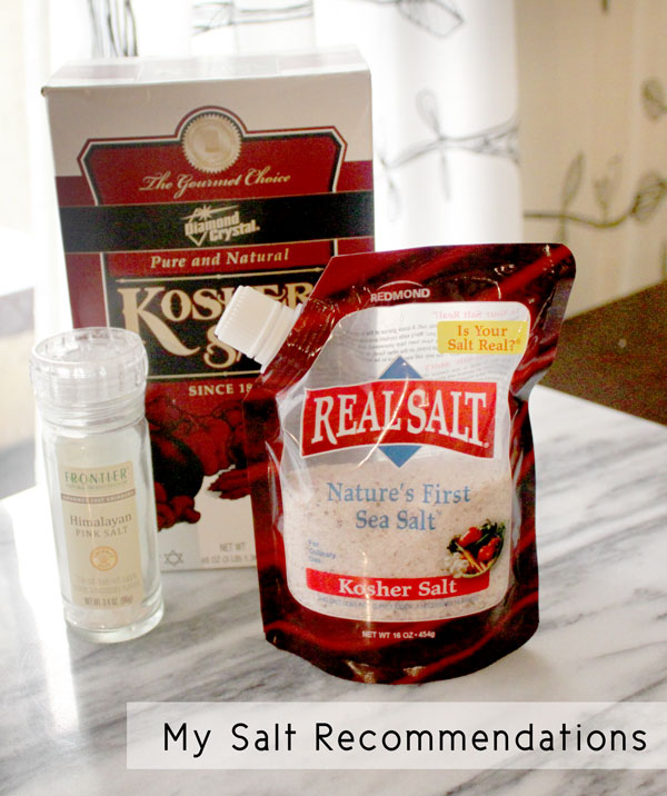 My Salt Recommenations - Healing and Eating