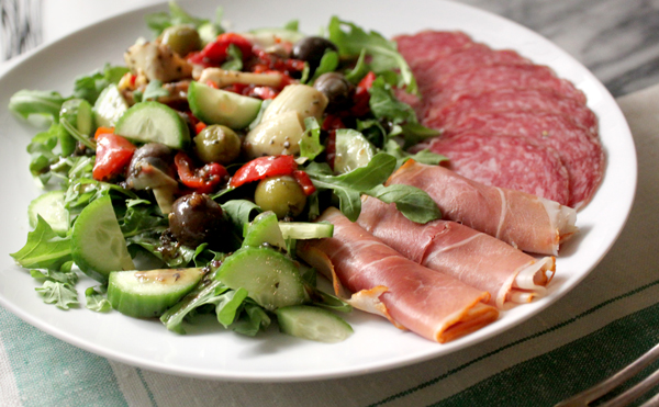 Antipasto Salad - Healing and Eating