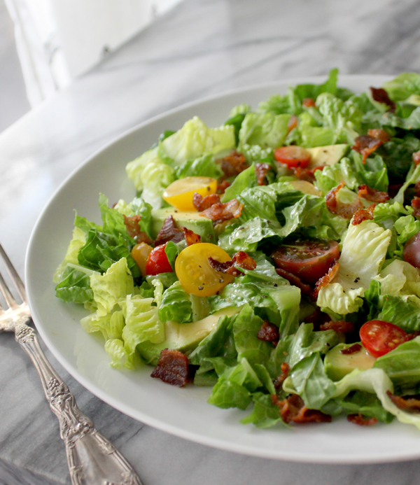 BLT Salad with Avocado - Healing and Eating