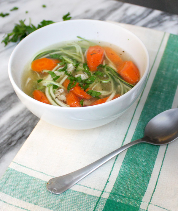 Chicken Zoodle Soup - Healing and Eating