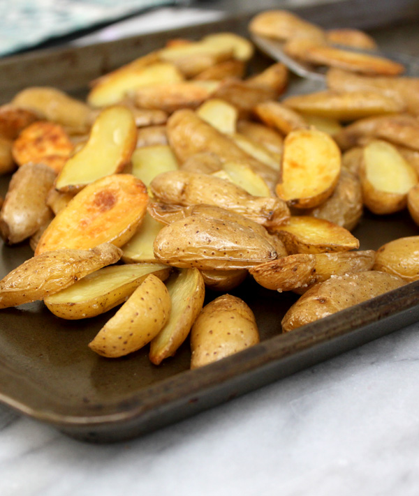 Roasted Fingerling Potatoes - Healing and Eating