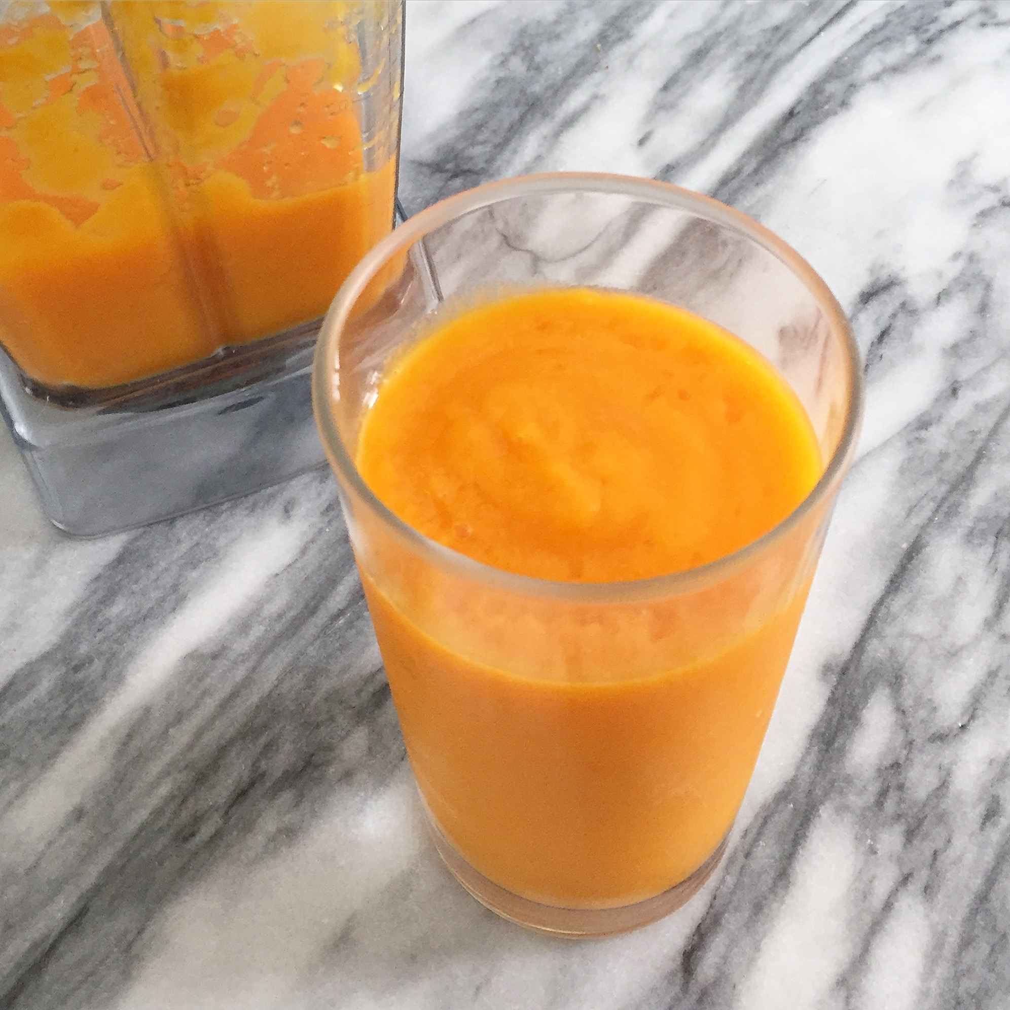 Sweet Potato and Mango Smoothie - Healing and Eating