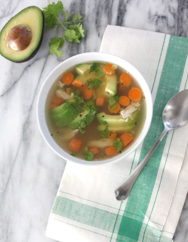 Chicken and Avocado Soup - Healing and Eating