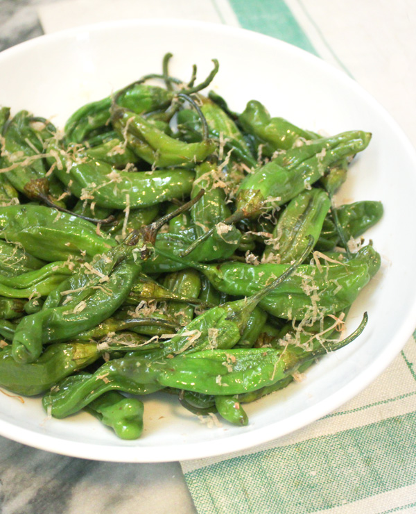 Roasted Shishito Peppers with Bonito Flakes - Healing and Eating